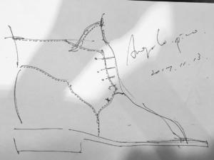 花田優一, デザイン画, 靴職人