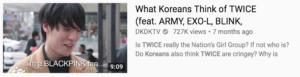 TWICE韓国の反応