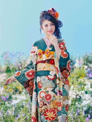 京都きもの友禅, CM, かわいい, 女の子, 女優, 浜辺美波, 振袖, 平成