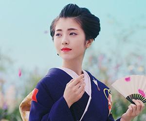 京都きもの友禅, CM, かわいい, 女の子, 女優, 浜辺美波, 振袖, 明治