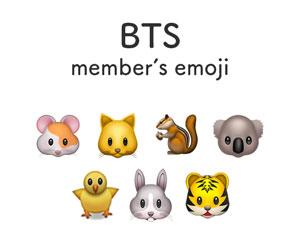 BTSメンバーの動物絵文字
