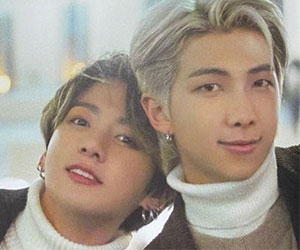 BTSメンバーのRMとジョングク