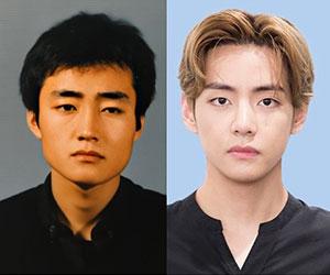 BTS(バンタン)メンバーのV(テテ)と父親